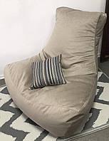 Велюровое кресло Босс с функцией Антикоготь. АКЦИЯ Латте