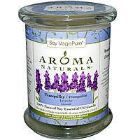 Свеча с эфирным маслом лаванды,Aroma Naturals, 260 г