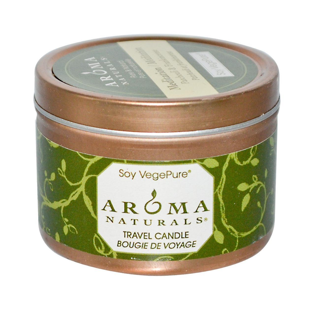 Свеча с ароматом пачули и ладана, Aroma Naturals,79,38 г