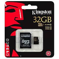 Карта памяти Kingston 32 GB microSDHC Class 10 UHS-I, SD адаптер (SDCA10 / 32GB)