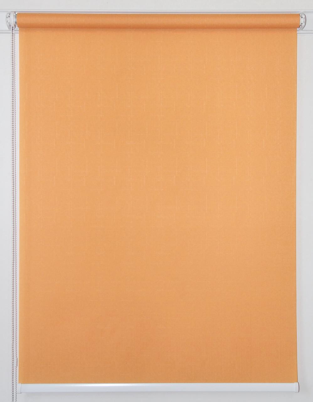 Готовые рулонные шторы 300*1500 Ткань Лён 852 Оранж