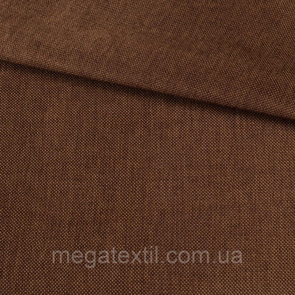 Рогожка деко коричнева темна меланж, ш.150 (22204.004)
