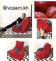 Велюровое кресло Босс с функцией Антикоготь. АКЦИЯ Красный