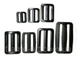 3629 Пряжка пластик 918ССС-009 чорний 3,8 см