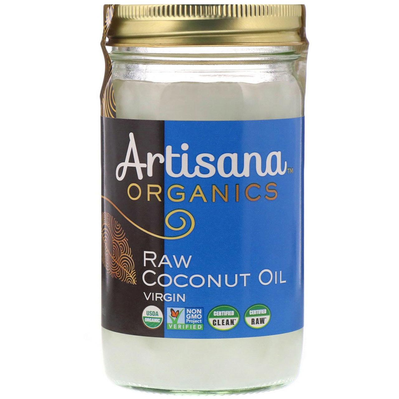 Кокосовое масло первого отжима, Artisana, 414 г.