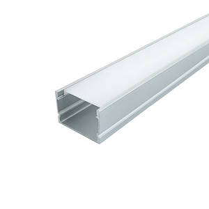 Комплект. Профиль для светодиодной ленты прямой 30х20 мм. ЛП20А Матовый, Анодированный
