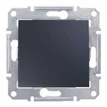 Кнопочный выключатель 1- кл Графит Sedna SDN0700170