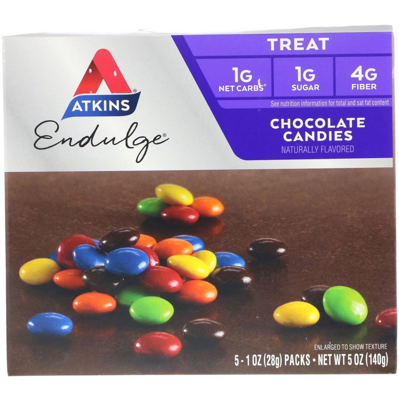 Шоколадные конфеты, Chocolate Candies, Atkins, Treat Endulge, 5 пакетов