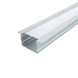 Комплект. Профиль для светодиодной ленты врезной 30х20 мм. ЛПВ20А Матовый, Анодированный