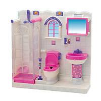 Мебель для кукол Ванная комната, душевая кабина, свет, 2009