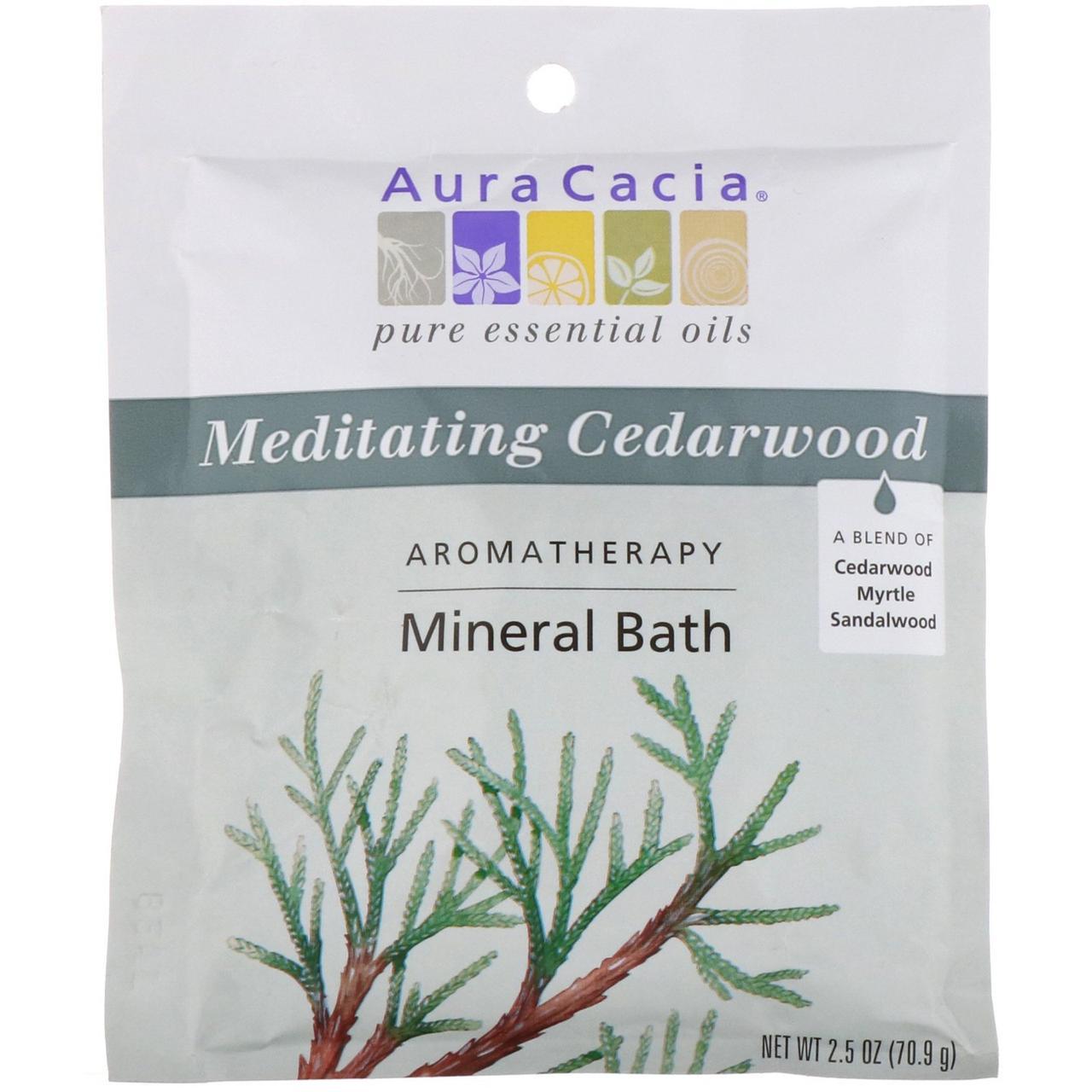 Соли для ванн (кедровое дерево), Mineral Bath, Aura Cacia, 70,9 г