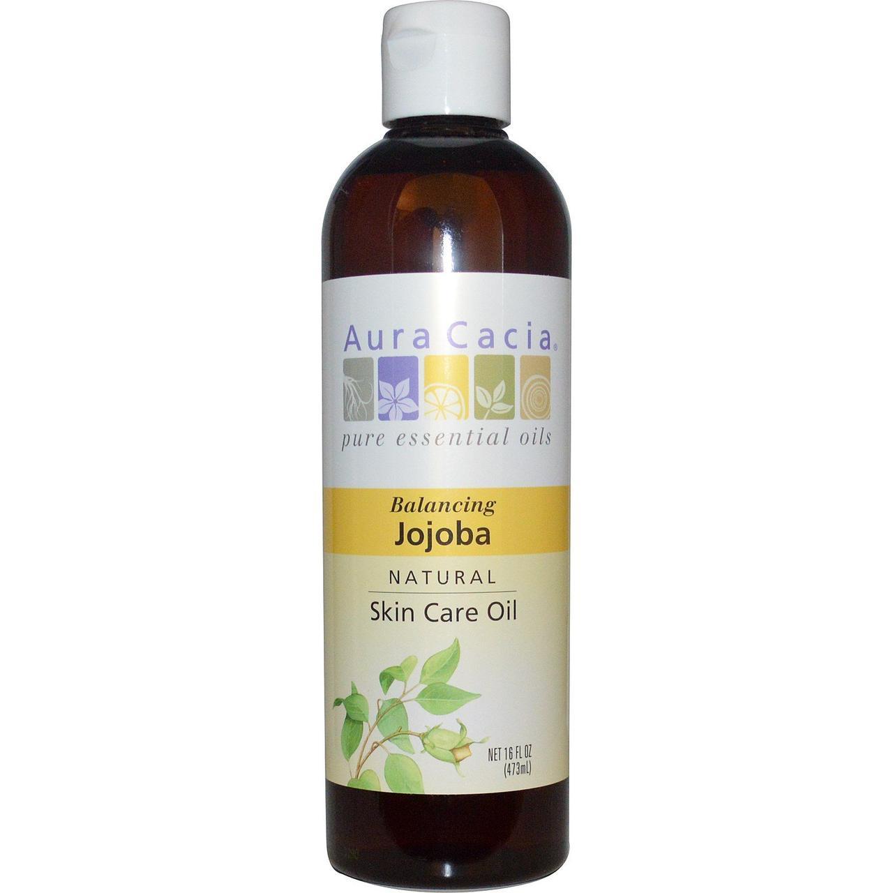 Масло жожоба (Oil Jojoba), Aura Cacia, 473 мл