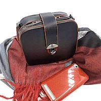 Маленькая женская сумочка через плечо, черный, кожзаменитель Арт.3300 Lioner Туреччина