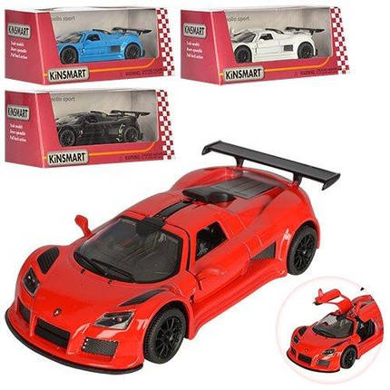 "KMKT5356 W Модель легковая  5"" KT5356W (2010) GUMPERT APOLLO SPORT метал.инерц.откр.дв.1:36 кор.ш.к./96/, фото 2"