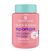 Жидкость и спонж для снятия лака Essence Quick & Easy Sponge Nail Polish Remover