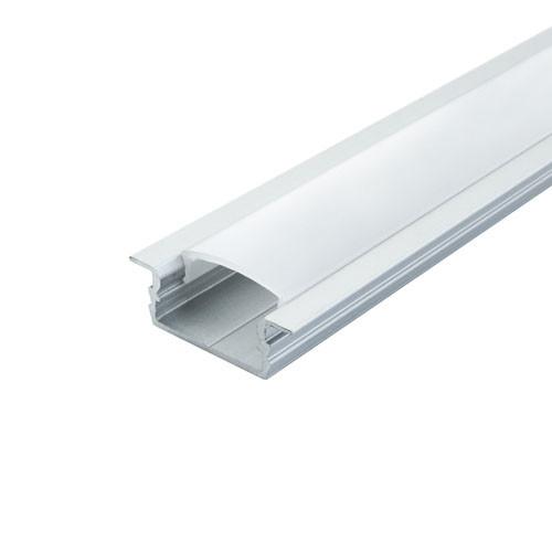 Комплект. Профіль для світлодіодної стрічки врізний 7х16 мм. ЛПВ7. Матовий. Анодований.