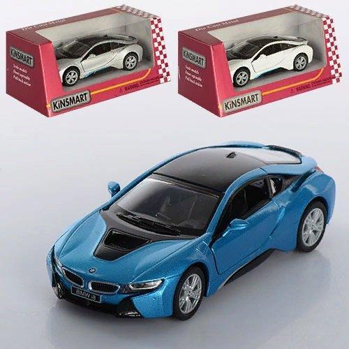 """KMKT5379W Модель легковая 5""""  BMW I8 метал.инерц.откр.дв. 1:36 кор.ш.к./96/"""