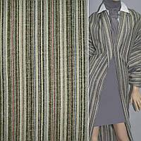 Ткань этно в полоски серые, черные, зеленые, малиновые, ш.150 ( 22808.014 )