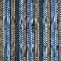 Тканина етно в темно-зелену, блакитну, рожеву смужку, ш.150 (22811.034)