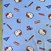 Велсофт двухсторонний голубой, кошечки Китти, ш.185 (23223.003)