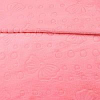 Велсофт двосторонній з тисненням бантики рожевий, ш.200 (23236.002)