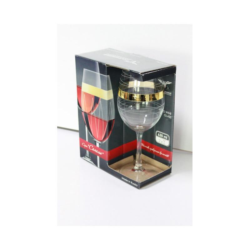 """Набор бокалов для вина """"Сомелье"""", с рисунком """"Мираж"""", 630мл, 2шт/упак., EAV95-153"""