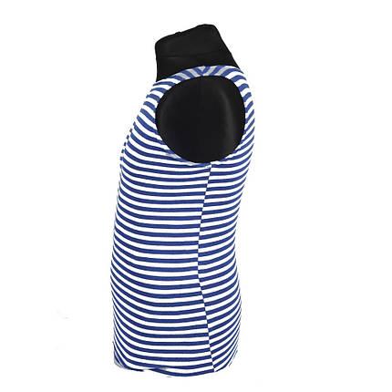 Тельняшка безрукавка, голубая полоса, фото 2