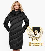 Воздуховик Braggart Angel's Fluff 30952 | Длинная женская куртка черная, фото 1