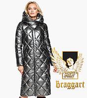 Воздуховик Braggart Angel's Fluff 31031 | Зимняя женская куртка темное серебро, фото 1