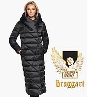 Воздуховик Braggart Angel's Fluff 31058 | Теплая женская куртка черная, фото 1