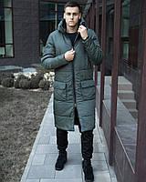 ✅ Мужская зимняя длинная куртка Pobedov Tank