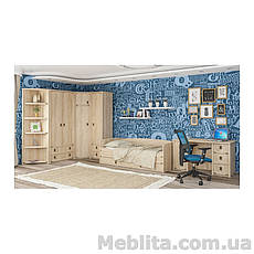 Угловой шкаф Валенсия дуб самоа Мебель-Сервис , фото 3