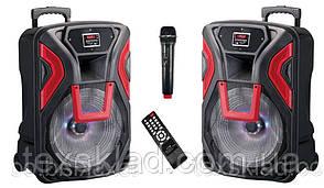 Аккумулятоние колонки TWS-1503 STEREO з мікрофоном 400W (FM/USB/Bluetooth)