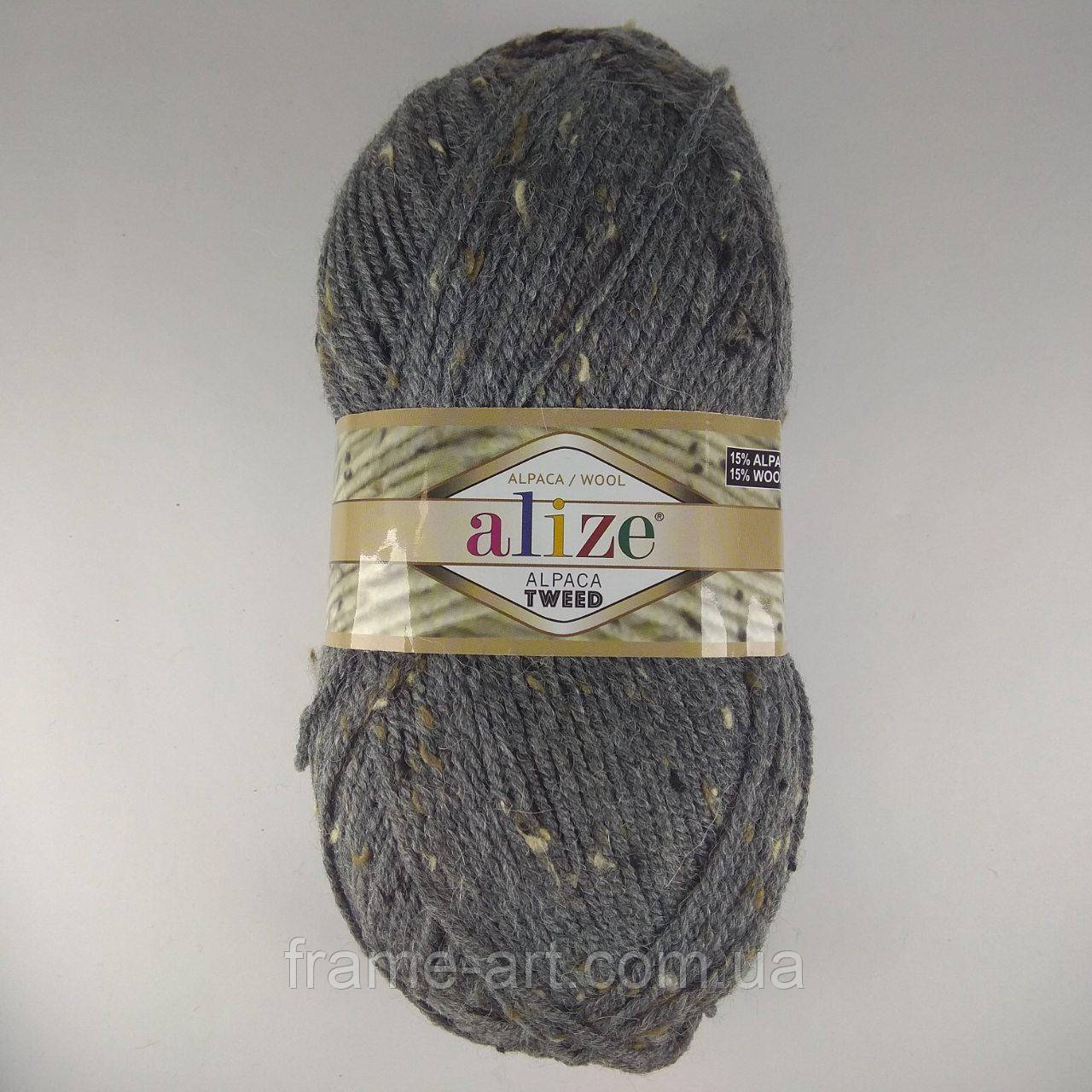 Ализе Альпака Твид (Alize Alpaca Tweed) 100г/150м 196 серый меланж