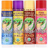 Бальзамы для губ, Badger Company, 4 шт по 4.2 г