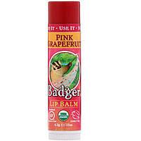 Бальзамы для губ (розовый грейпфрут), Badger Company