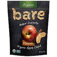 Яблочные чипсы с корицей, Crunchy Apple Chips, Bare Fruit, 85 г.
