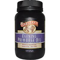 Масло вечерней примулы (Evening Primrose Oil), Barlean's, 120 капсул