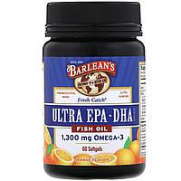 Рыбий жир, Омега-3 EPA / DHA, Barlean's, 60 кап.