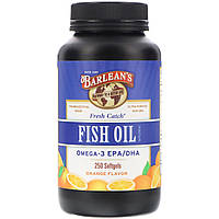Рыбий жир, Омега-3 EPA / DHA, Barlean's, 250 кап.