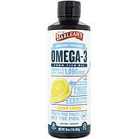 Рыбий жир, Омега-3 (лимон), Barlean's, 454 г.