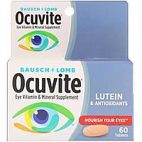 Bausch & Lomb, С лютеином, Витаминная и минеральная добавка для глаз, 60 таблеток, фото 1