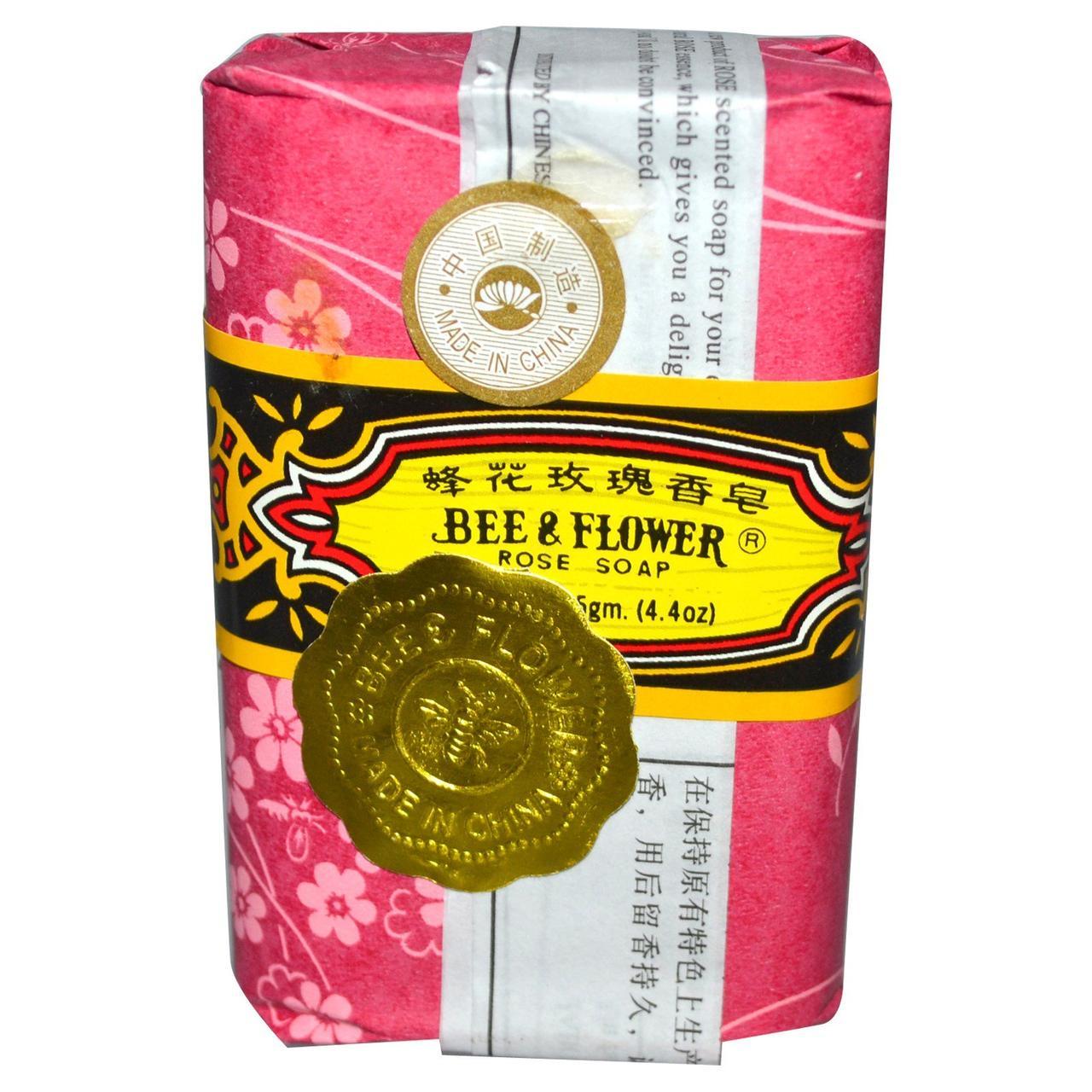 Мыло из роз, Soap, Bee & Flower, 125 гр.