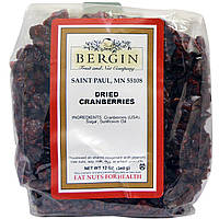 Сушеная клюква, Dried Cranberries, Bergin Fruit and Nut Company, 340 г