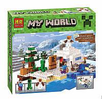 """Конструктор Bela 10391 """"Снежное укрытие"""" (аналог Lego Майнкрафт, Minecraft 21120), 327 детали"""
