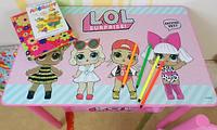 Детский столик со стульчиками Лол