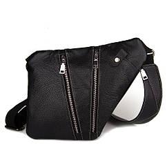 Мужская стильна сумка кобура на плечо Cross Body кожаная (серая). Практичный и удобный клатч для мужчин.