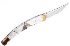 Нож складной  современный нож с полированным лезвием, отличный подарок охотнику или рыбаку