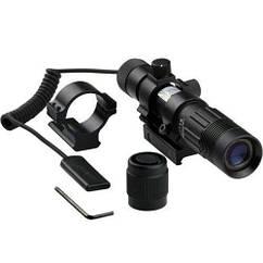 Лазерный целеуказатель фонарь лазер зеленый фокусируемый до 4000 м, влагозащита, крепление 21 мм или 30 мм,