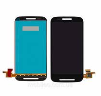 Дисплей (LCD) Motorola XT1021 Moto E XT1022 XT1025 с тачскрином, чёрный ориг. к-во